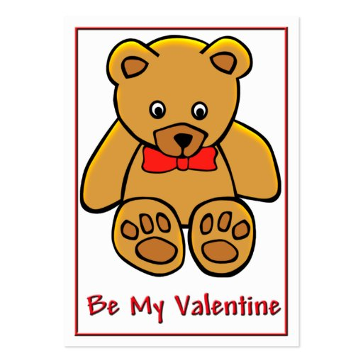 Teddy Bear Valentine Cards to Hand Out for Kids Business Card Templates
