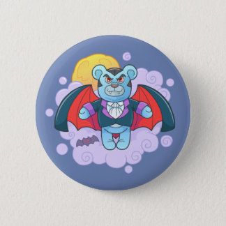 Teddy bear vampire 6 cm round badge