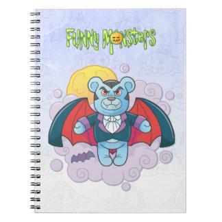Teddy bear vampire notebooks