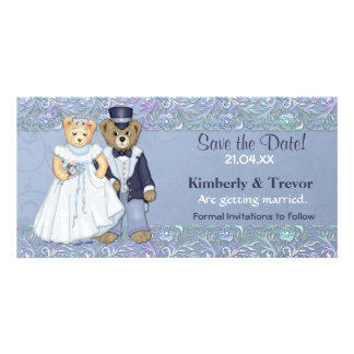 Teddy Bear Wedding Save The Date Personalized Photo Card