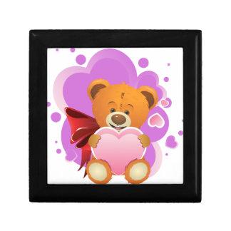 Teddy Bear with Heart 2 Gift Box