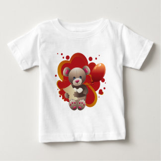 Teddy Bear with Heart 3 Baby T-Shirt