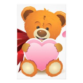 Teddy Bear with Heart Customized Stationery
