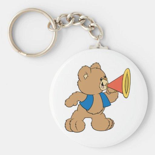 Teddy Bear with Megaphone Keychain