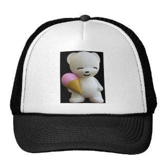 Teddy Bear with Pink Ice Cream Trucker Hats