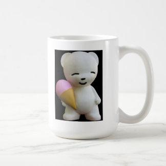 Teddy Bear with Pink Ice Cream Coffee Mug