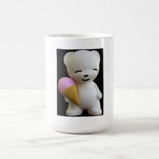 Teddy Bear with Pink Ice Cream Mugs