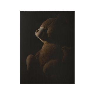 Teddy Bear Wood Poster