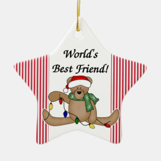 Teddy Bear World s Best Friend Ornament