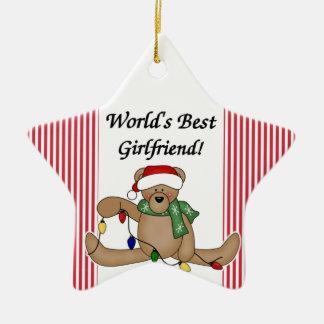Teddy Bear World's Best Girlfriend Ornament