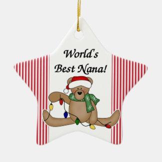 Teddy Bear World's Best Nana Ornament