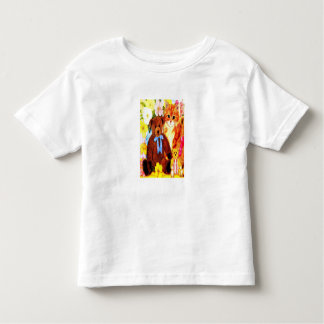 Teddy bears and cat toddler T-Shirt