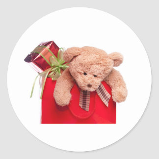 teddy bears and gifts classic round sticker