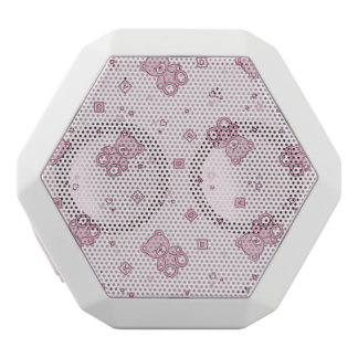 Teddy bears background Pink White Boombot Rex Bluetooth Speaker