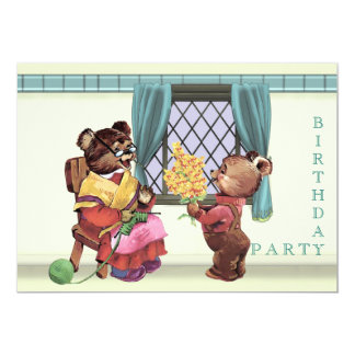 Teddy Bear's Birthday Party Invitation