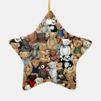 Teddy Bears Ceramic Star Decoration
