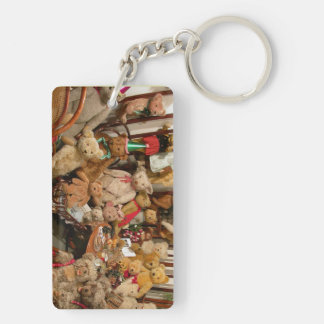 Teddy Bears Collectors Paradise Double-Sided Rectangular Acrylic Key Ring