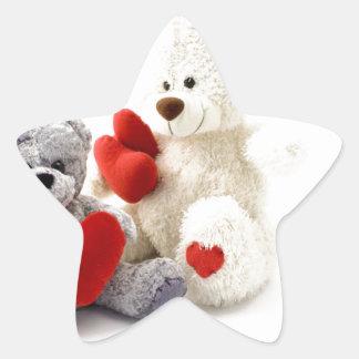 TEDDY BEARS &  LOVE HEARTS STAR STICKER