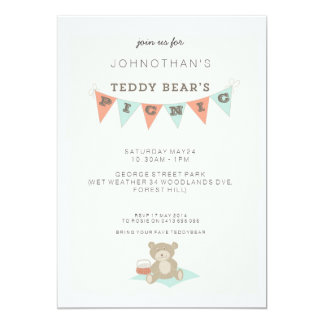 Teddy Bear Picnic Invitations, 55 Teddy Bear Picnic