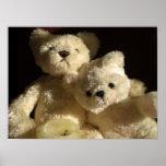 Teddy bears romantic evening poster