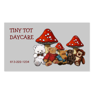 Teddy Bears, Stuffed Animals DAYCARE BUSINESS CARD