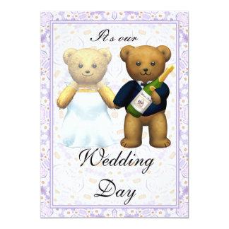 ,Teddy Bears tall Wedding Invite - Invitation