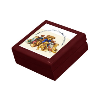 Teddy Bears TILE GIFT / KEEPSAKE BOX Jewelry