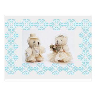Teddy bears wedding Postcard