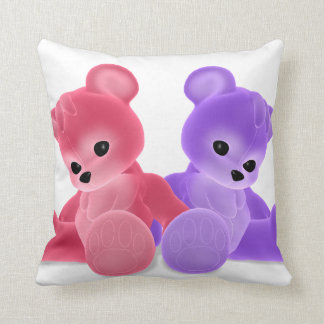 Teddy Bearz Throw Pillow