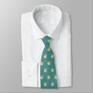 Teddy Christmas Angel (teal) Tie