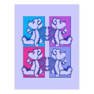 Teddy Foursome Postcard
