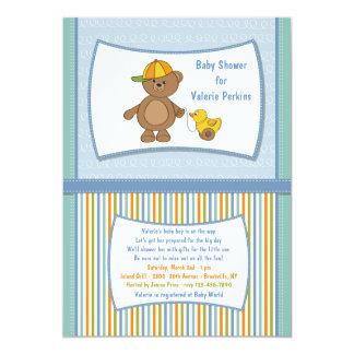 Teddy Guy Baby Shower Invitation