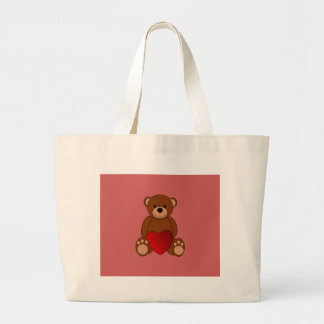 Teddy Love Large Tote Bag
