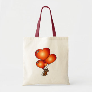 Teddy love theme budget tote bag