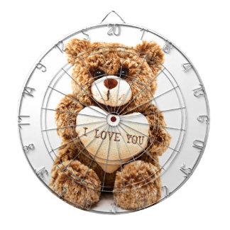 Teddy Love Valentine's Day Greeting Card Soft Toy Dartboard