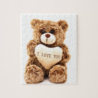 Teddy Love Valentine's Day Greeting Card Soft Toy Jigsaw Puzzle