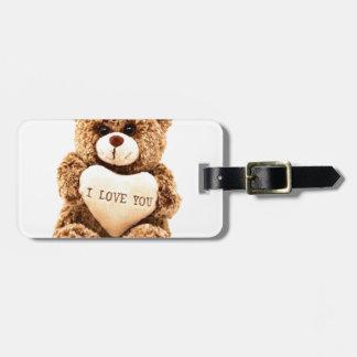 Teddy Love Valentine's Day Greeting Card Soft Toy Luggage Tag