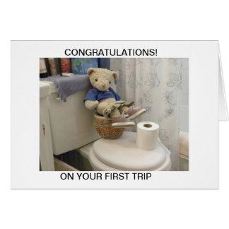 Teddy On Potty Card