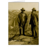 Teddy Roosevelt and John Muir at Glacier Point Greeting Card