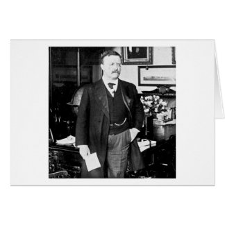 Teddy Roosevelt at the White House 1912 Vintage Card