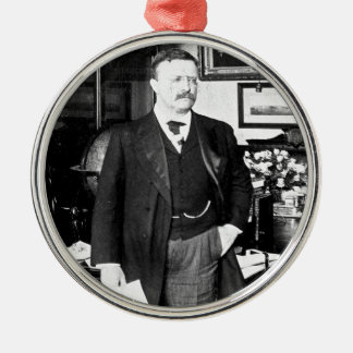 Teddy Roosevelt at the White House 1912 Vintage Metal Ornament