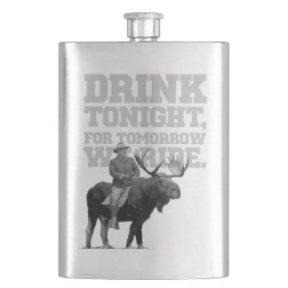 Teddy Roosevelt Drink Tonight Hip Flask