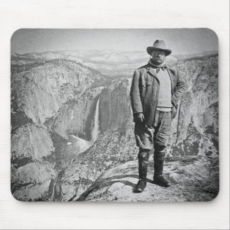 Teddy Roosevelt Glacier Point Yosemite Valley CA Mouse Pad