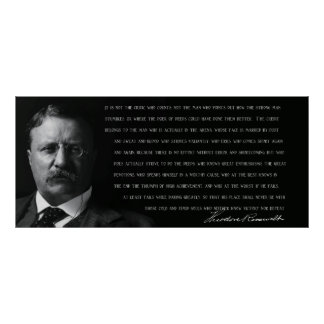 TEDDY ROOSEVELT - MAN in the ARENA - 1910 Poster