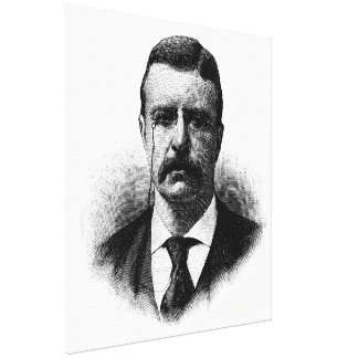 TEDDY ROOSEVELT Sketch Beginners American History Stretched Canvas Prints