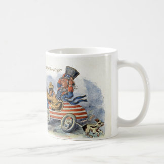 Teddy Roosevelt & Uncle Sam in Patriotic Auto Coffee Mug