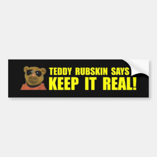 Teddy Rubskin 1st Bumper Bumper Sticker