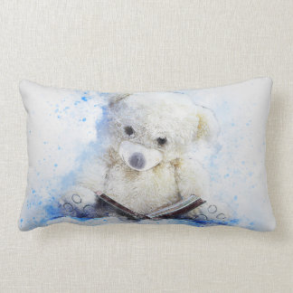 Teddy to bear reading book lumbar cushion