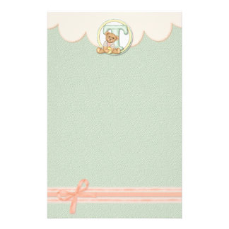 Teddy Tots T Personalized Stationery