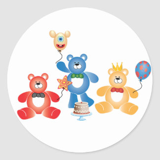 Teddybear Party Stickers
